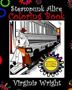 Steampunk Alice Coloring Book