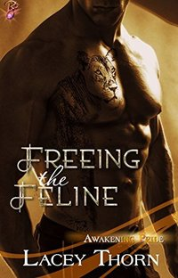 Freeing the Feline (Paranormal Shapeshifter Romance) (Awakening Pride Series, Book Three) by Lacey Thorn