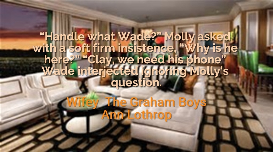 handle what wade molly asked with a soft firm insistence why is he here...