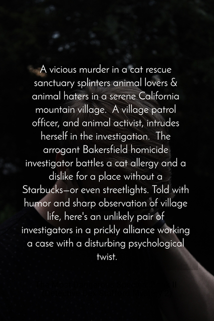 a vicious murder in a cat rescue sanctuary splinters animal lovers animal haters in a...