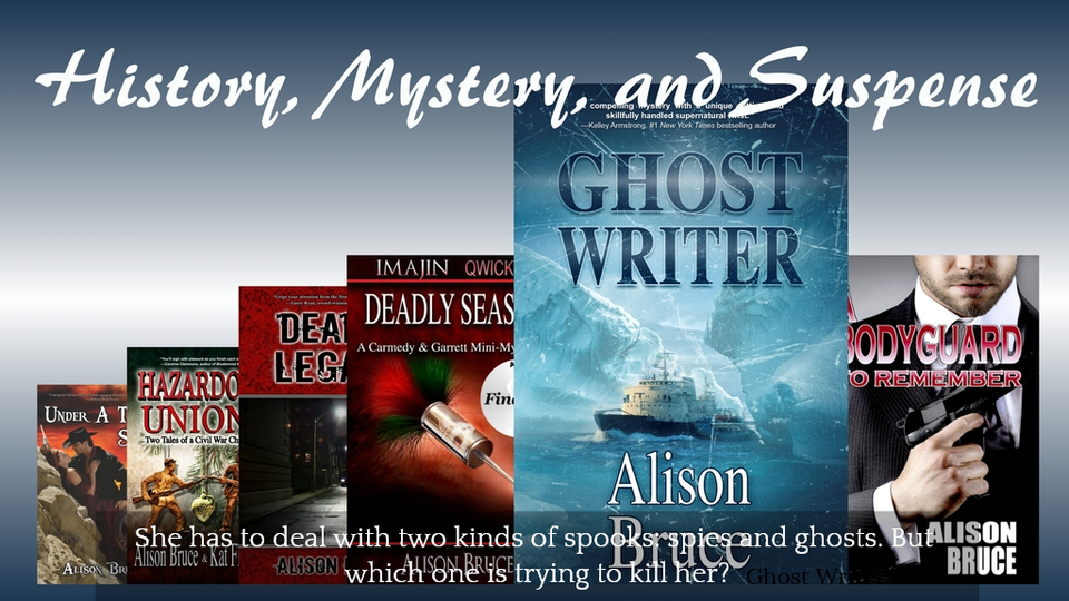 she has to deal with two kinds of spooks spies and ghosts but which one is trying to...