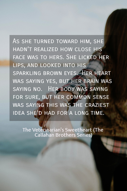 as she turned toward him she hadnt realized how close his face was to hers she...