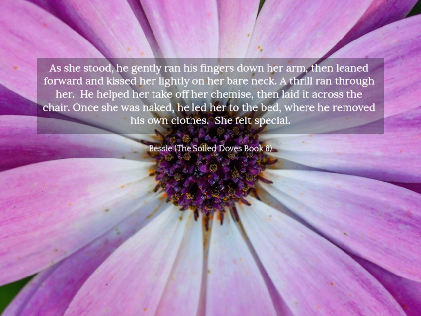 as she stood he gently ran his fingers down her arm then leaned forward and kissed her...