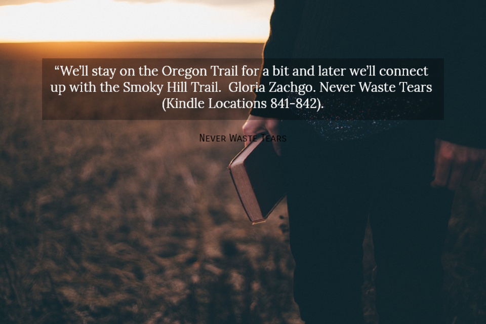 well stay on the oregon trail for a bit and later well connect up with the smoky...