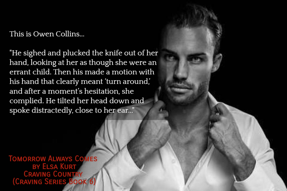 he sighed and plucked the knife out of her hand looking at her as though she were an...