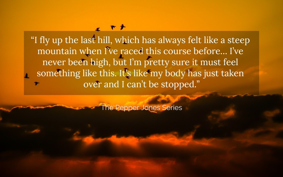 i fly up the last hill which has always felt like a steep mountain when ive raced...