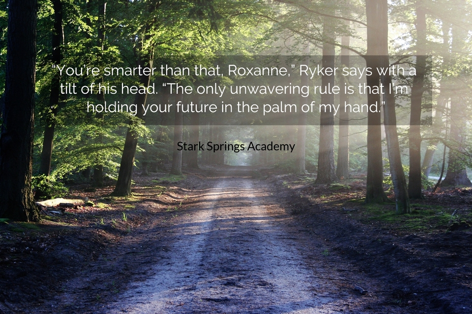 youre smarter than that roxanne ryker says with a tilt of his head the...