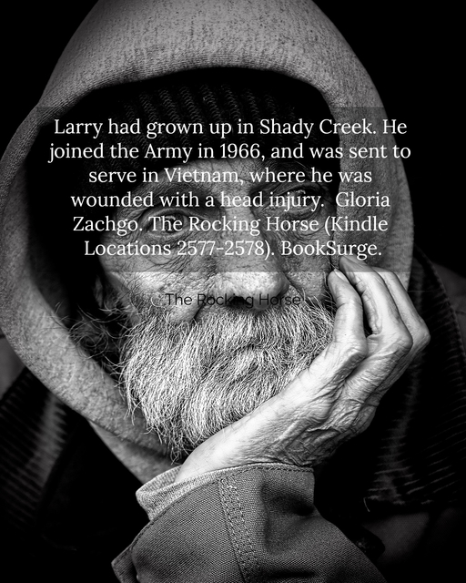 larry had grown up in shady creek he joined the army in 1966 and was sent to serve in...