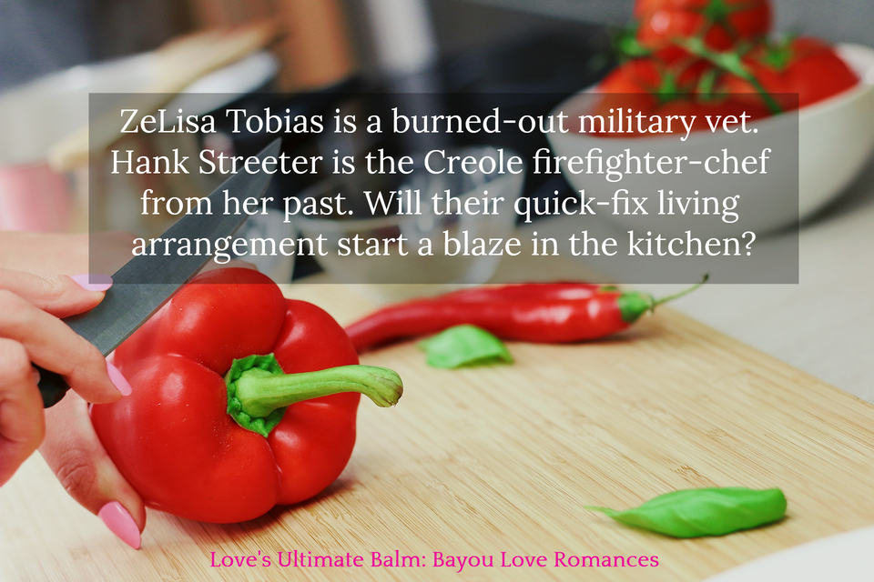 zelisa tobias is a burned out military vet hank streeter is the creole firefighter chef...
