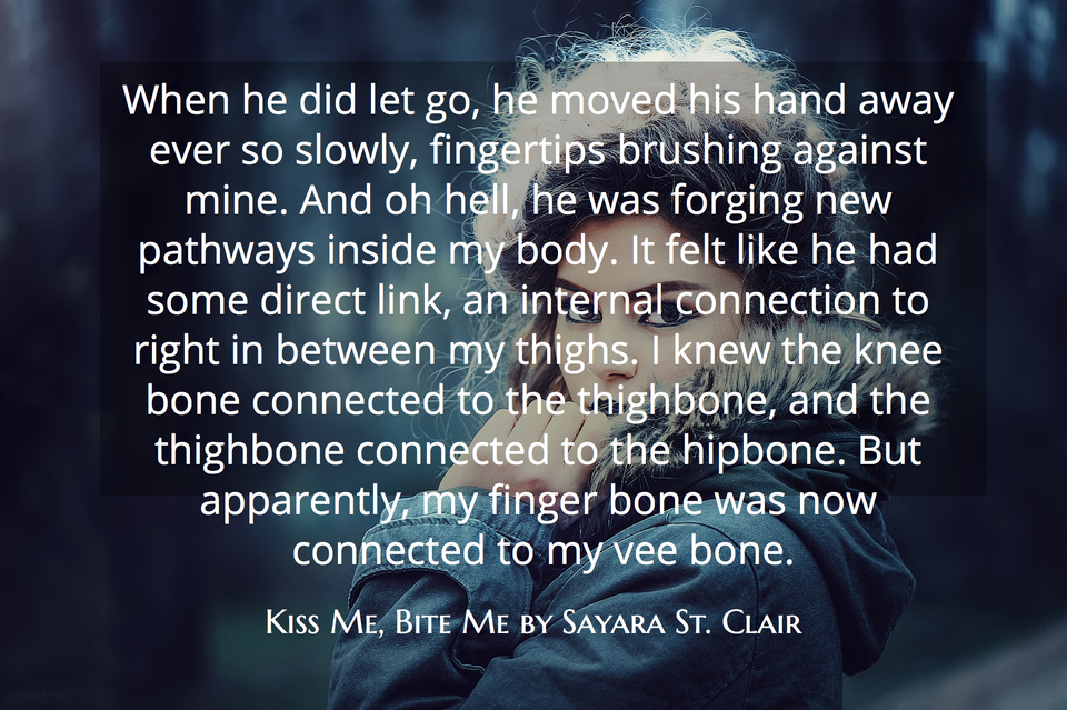 when he did let go he moved his hand away ever so slowly fingertips brushing against...