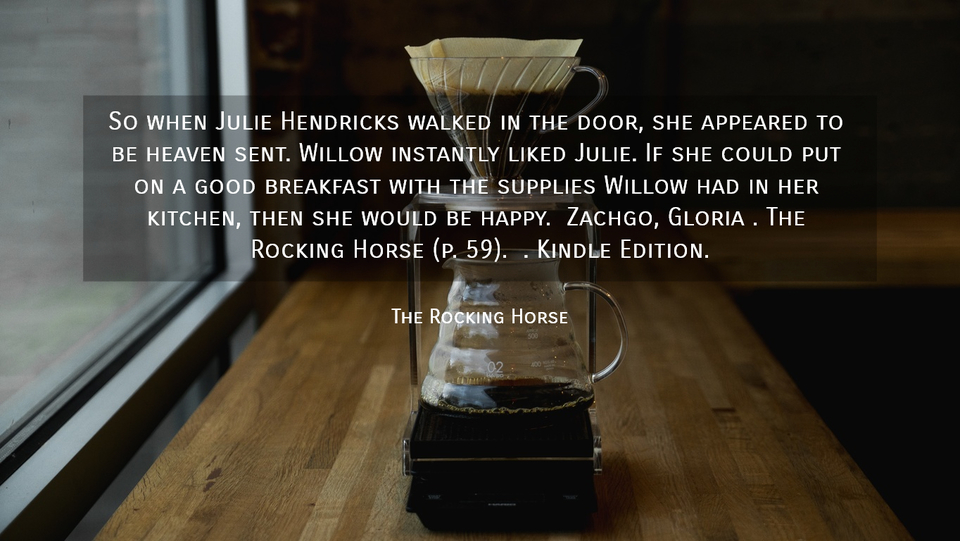 so when julie hendricks walked in the door she appeared to be heaven sent willow...