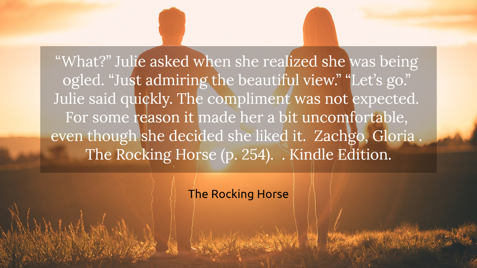 what julie asked when she realized she was being ogled just admiring the...