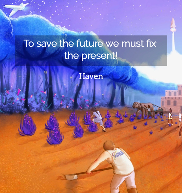 to save the future we must fix the present...