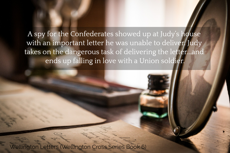 a spy for the confederates showed up at judys house with an important letter he was...