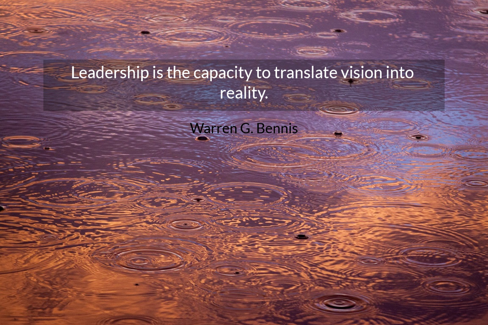 Leadership Is The Capacity To Translate Quote
