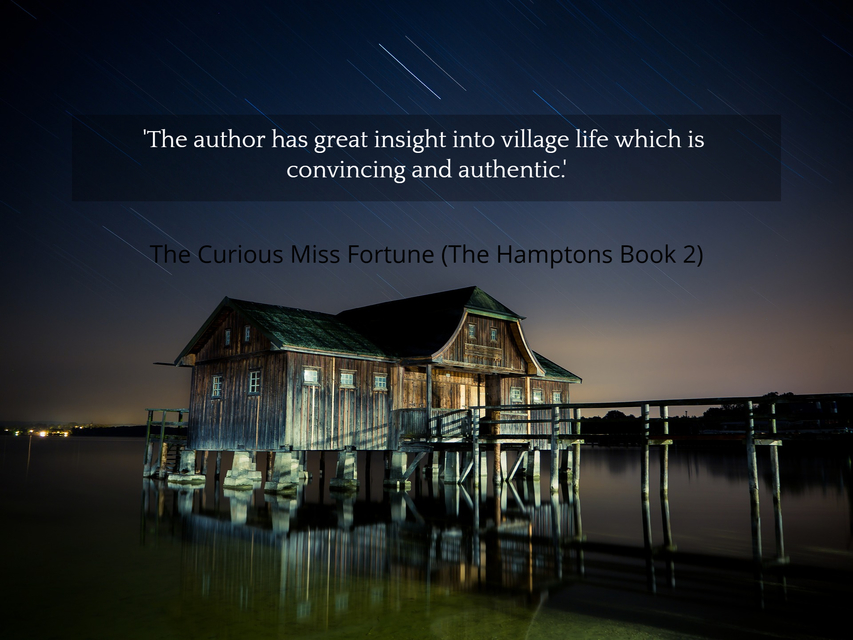 the author has great insight into village life which is convincing and authentic...