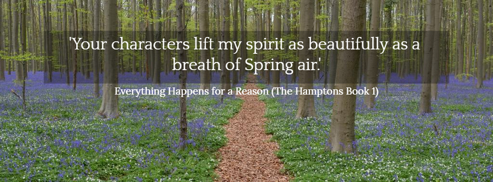 your characters lift my spirit as beautifully as a breath of spring air readers...