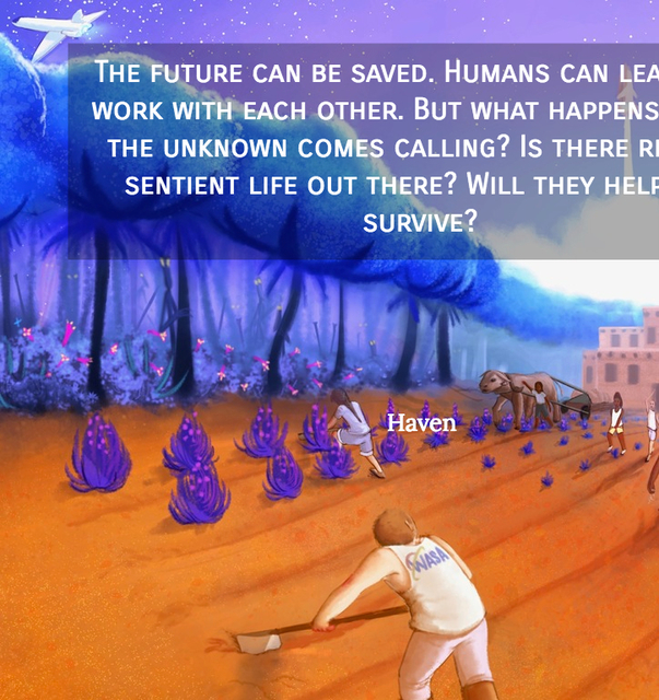 the future can be saved humans can learn to work with each other but what happens when...