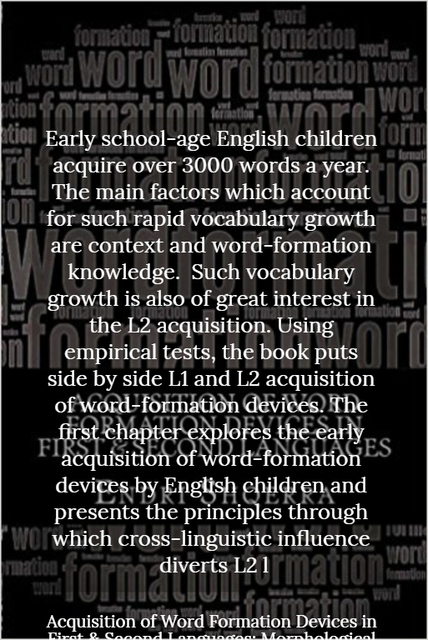 early school age english children acquire over 3000 words a year the main factors which...
