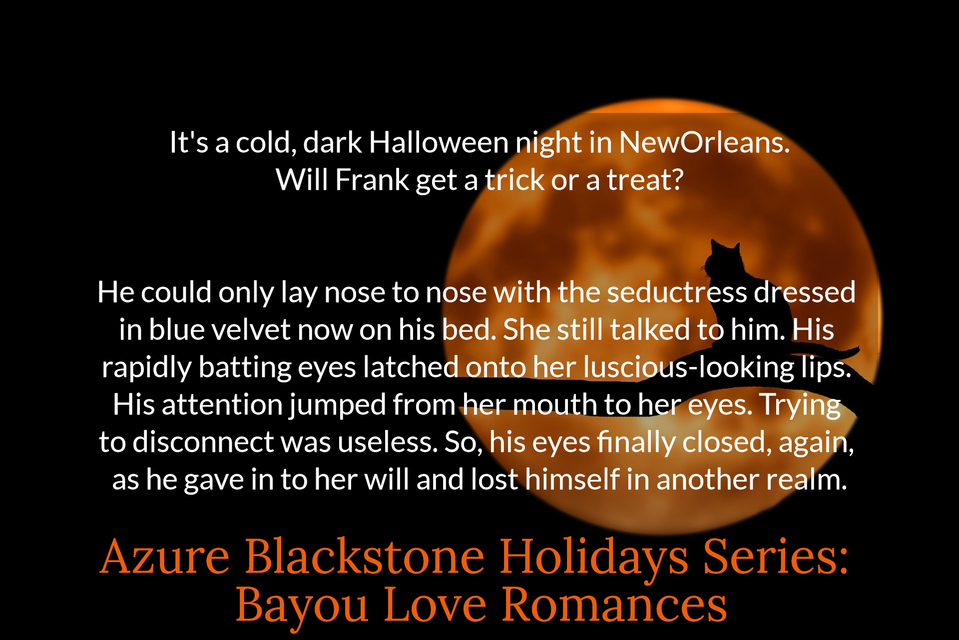 its a cold dark halloween night in neworleans will frank get a trick or a treat...