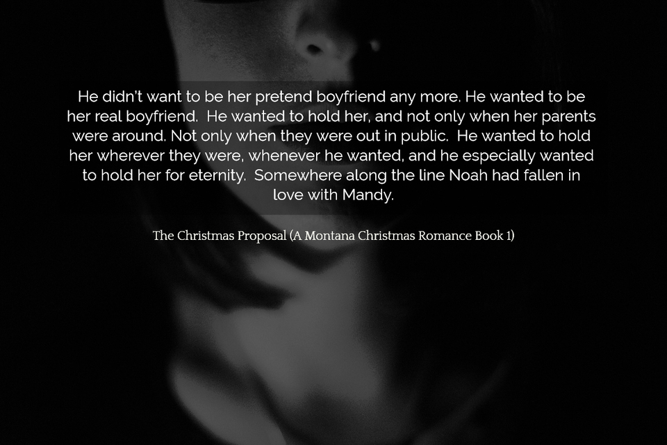 he didnt want to be her pretend boyfriend any more he wanted to be her real boyfriend...