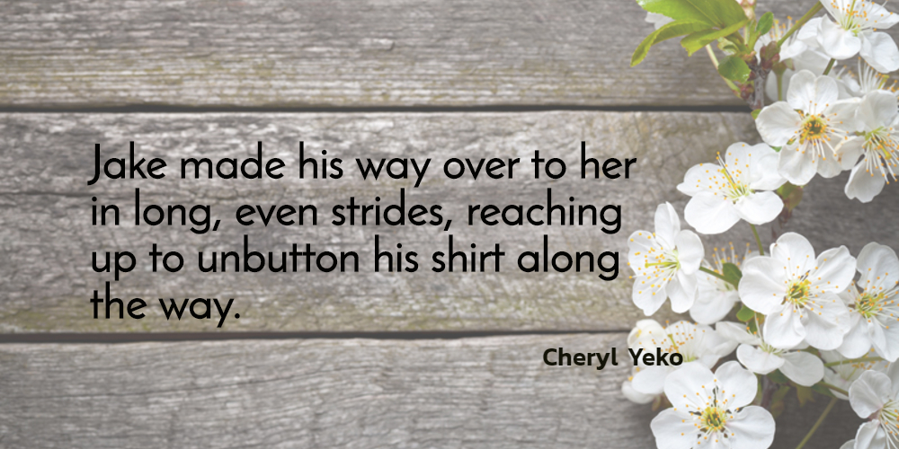 jake made his way over to her in long even strides reaching up to unbutton his shirt...