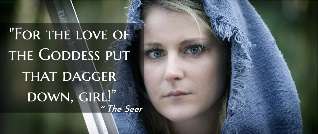 for the love of the goddess put that dagger down girl...