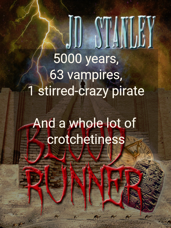 5000 years 63 vampires 1 stirred crazy pirate a whole lot of crotchetiness...
