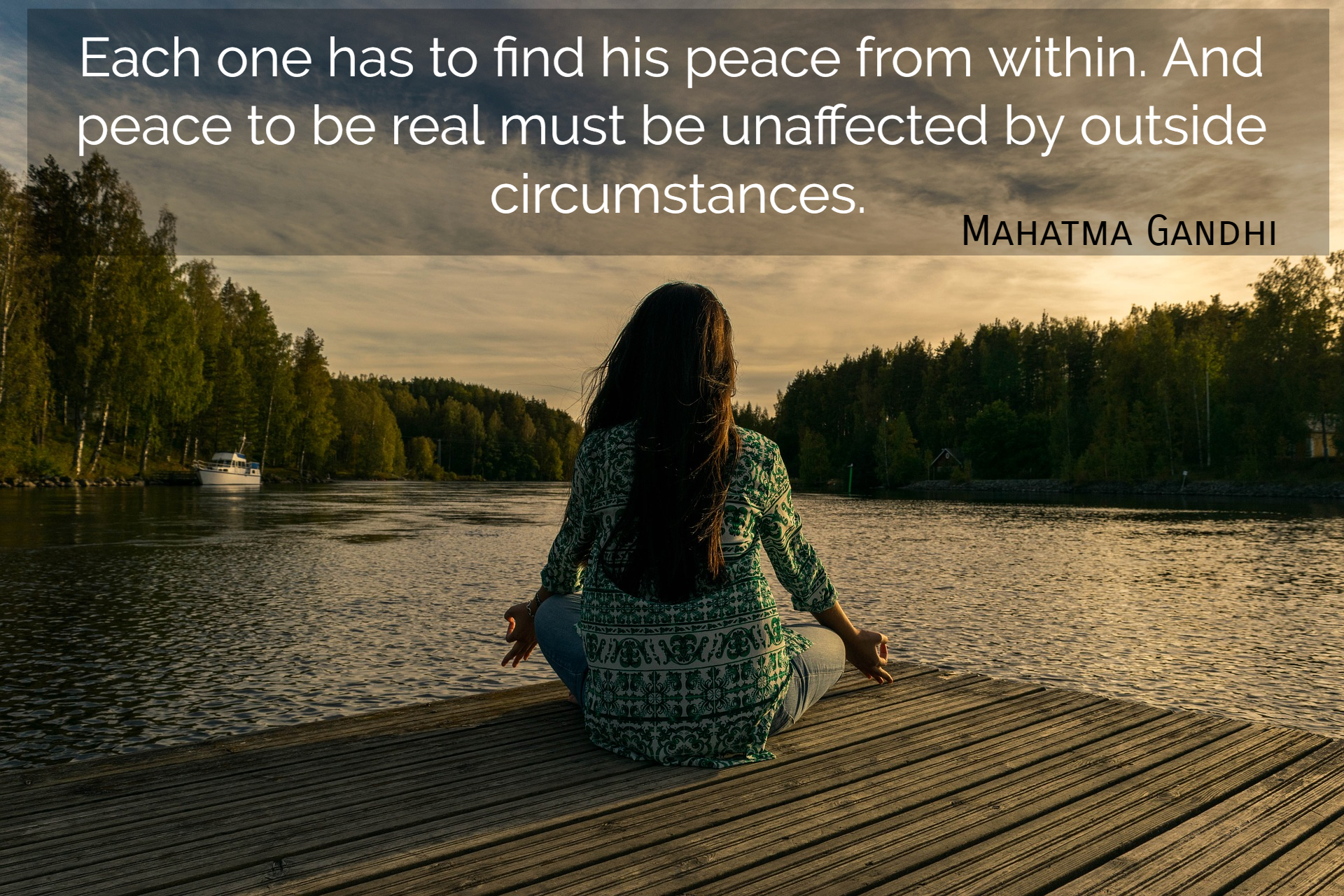 Each One Has To Find His Peace From Within Picture Quotes 4992
