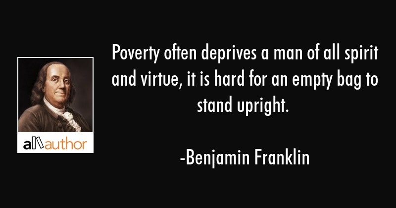 Poverty Often Deprives A Man Of All Spirit Quote Extraordinary Quotes About Poverty