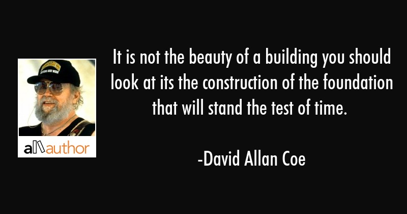 It Is Not The Beauty Of A Building You Quote