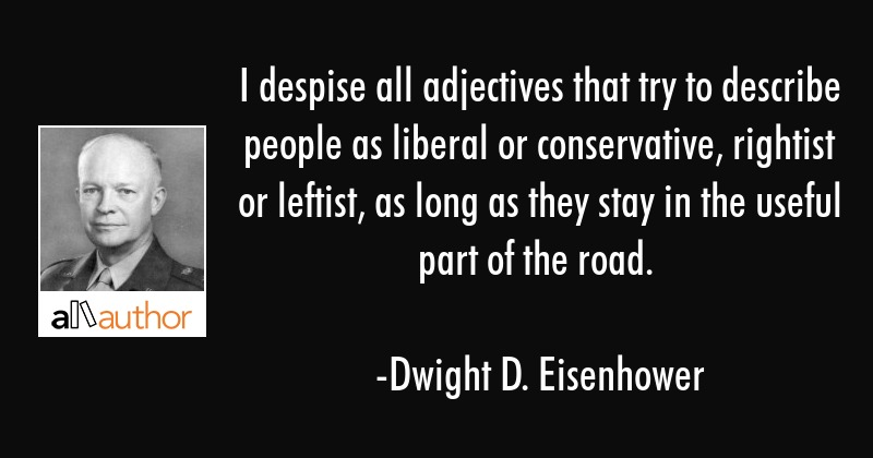 Dwight Eisenhower Quotes | I Despise All Adjectives That Try To Quote