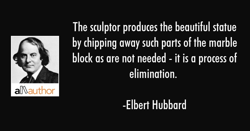 The Sculptor Produces The Beautiful Statue Quote Impressive Statue Quotes