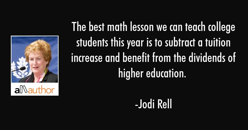 The Best Math Lesson We Can Teach College Quote
