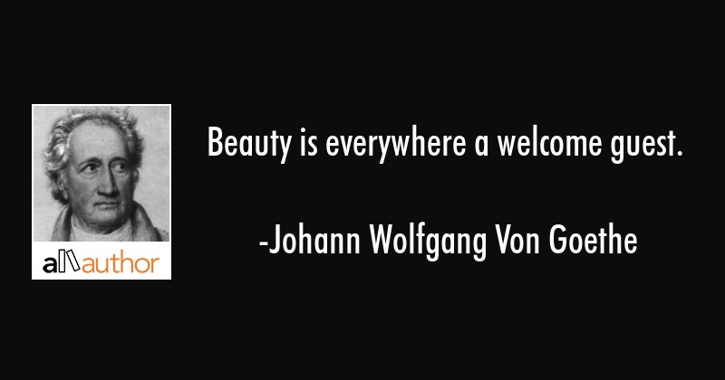 Beauty Is Everywhere A Welcome Guest Quote