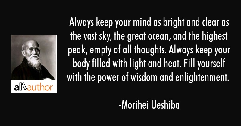 Always Keep Your Mind As Bright And Clear As Quote