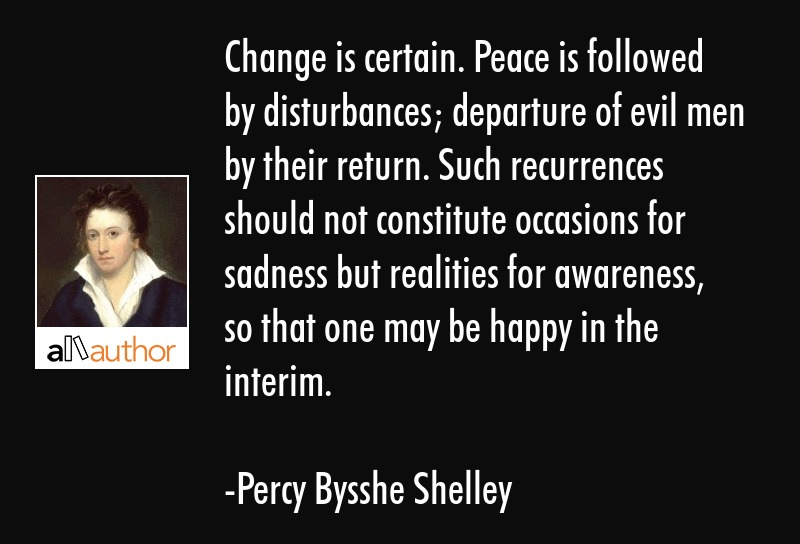 Change Is Certain Peace Is Followed By Quote