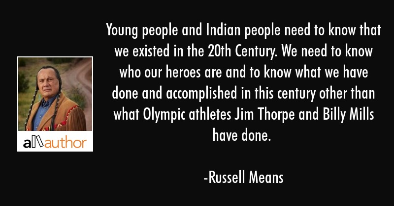 Young People And Indian People Need To Know Quote