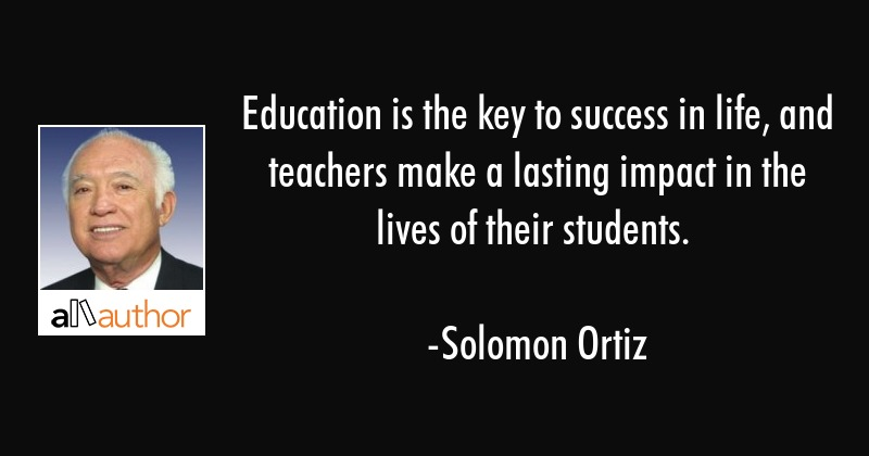Quote About Education Fascinating Education Is The Key To Success In Life And Quote