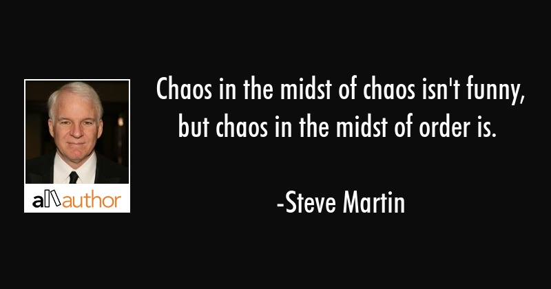 Chaos in the midst of chaos isn\