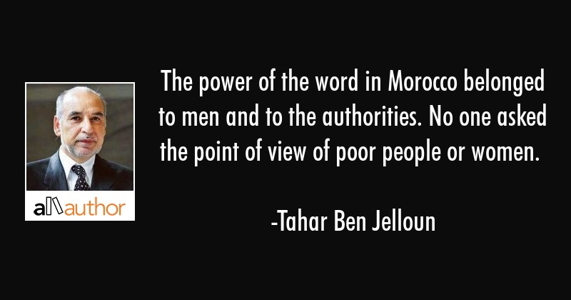 The Power Of The Word In Morocco Belonged To Quote
