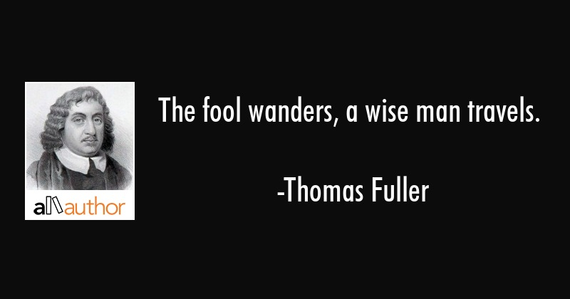 The Fool Wanders A Wise Man Travels Quote