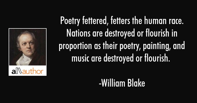 Poetry Fettered Fetters The Human Race Quote