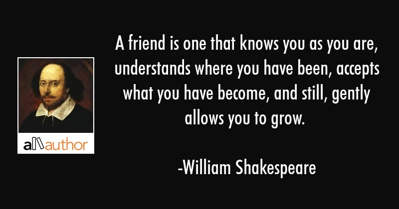 A Friend Is One That Knows You As You Are Quote